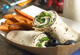 California Tapenade Turkey Wrap